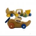 اسباب بازی چوبی هواپیما چرخ دار والینور