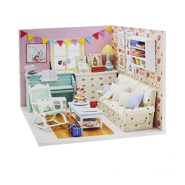 اسباب بازی خانه مینیاتوری مدل اتاق پذیرایی