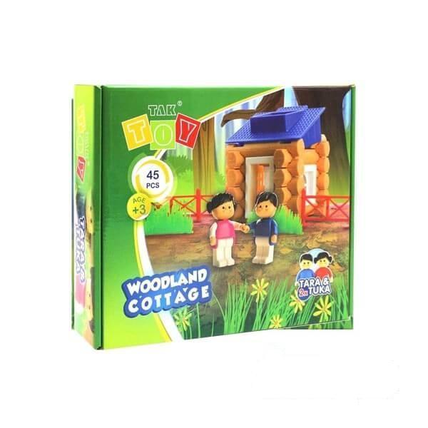 اسباب بازی ساختنی کلبه جنگلی ۴۵ قطعه