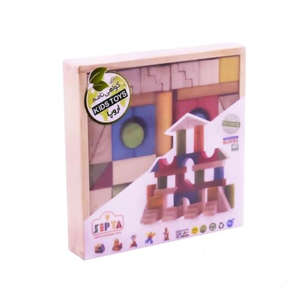 بازی بریکس چوبی جعبه چوبی