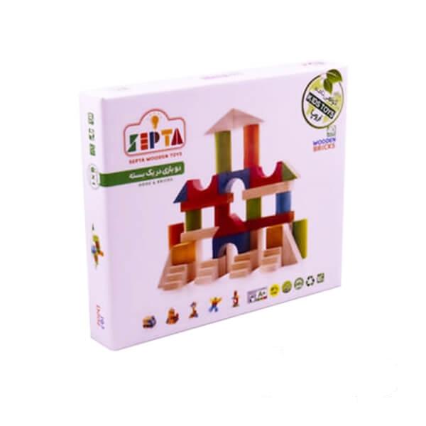بازی بریکس چوبی جعبه مقوایی