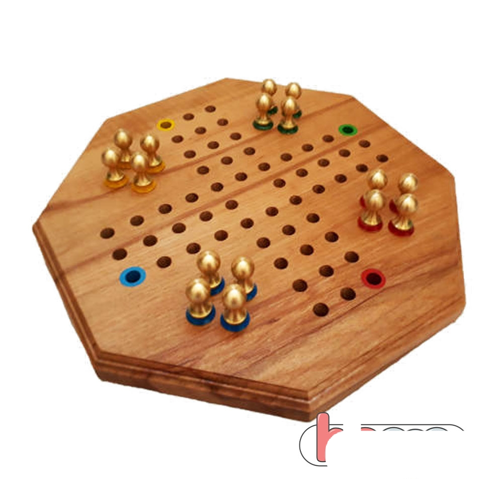 بازی منچ چوبی (مهره فلزی)