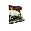 فیگور دایناسور دوتایی مدل Little Tyrannosaurus & Ankylosaur