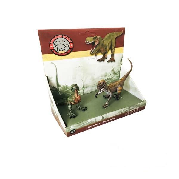 فیگور دایناسور دوتایی مدل Little Tyrannosaurus & Velociraptor