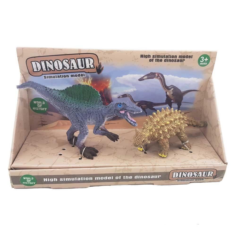 فیگور دایناسور دوتایی مدل کونکاونیتور و یوپلوسفالوس (D5)