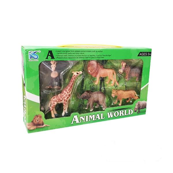 فیگور حیوانات بیشه مدل ۶ عددی