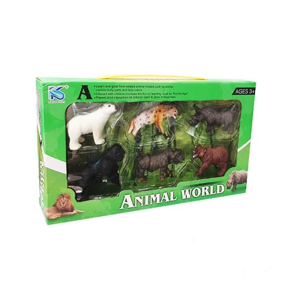 فیگور حیوانات جنگل مدل ۶ عددی