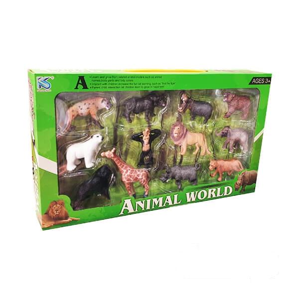 فیگور حیوانات وحشی مدل ۱۲ عددی