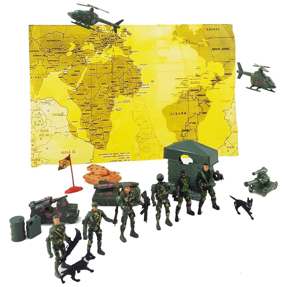 فیگور سربازان جنگی با تجهیزات و اسلحه