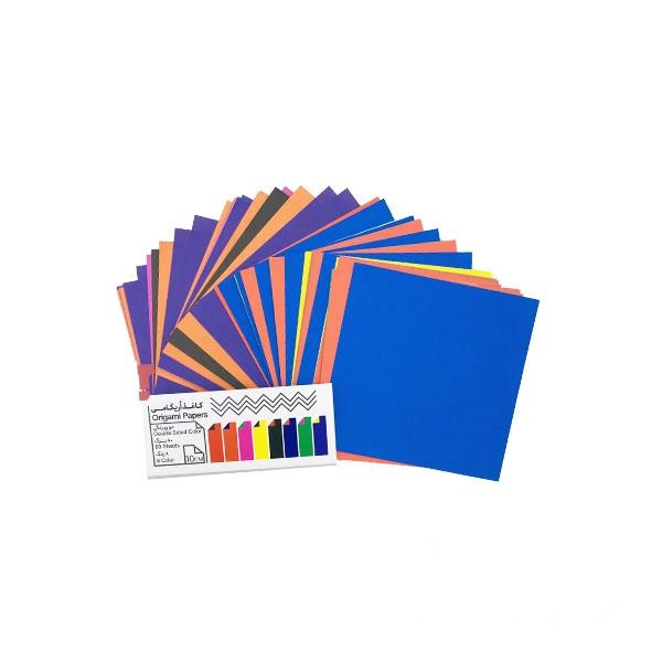 کاغذ اوریگامی دو رو رنگی ۱۰ سانتیمتری