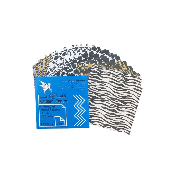 کاغذ اوریگامی طرح حیوانات ۷ سانتیمتری