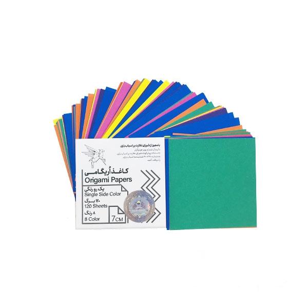 کاغذ اوریگامی یک رو رنگی ۷ سانتیمتری