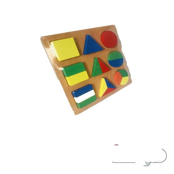 پازل اشکال هندسی بزرگ مدل چند تکه
