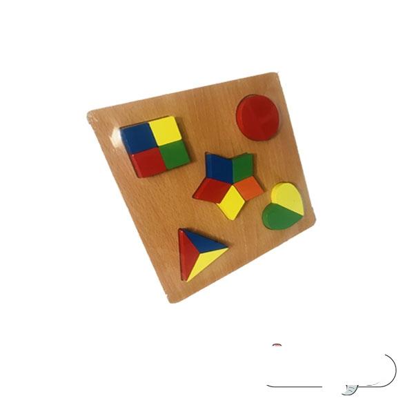 پازل اشکال هندسی بزرگ مدل چند طرح