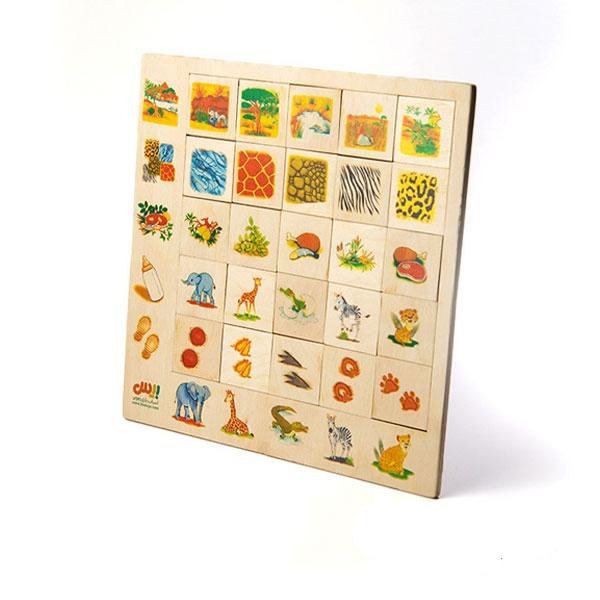 پازل هوش ۲۵ قطعه مدل حیوانات