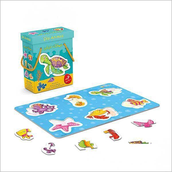 پازل جعبه ای حیوانات دریایی