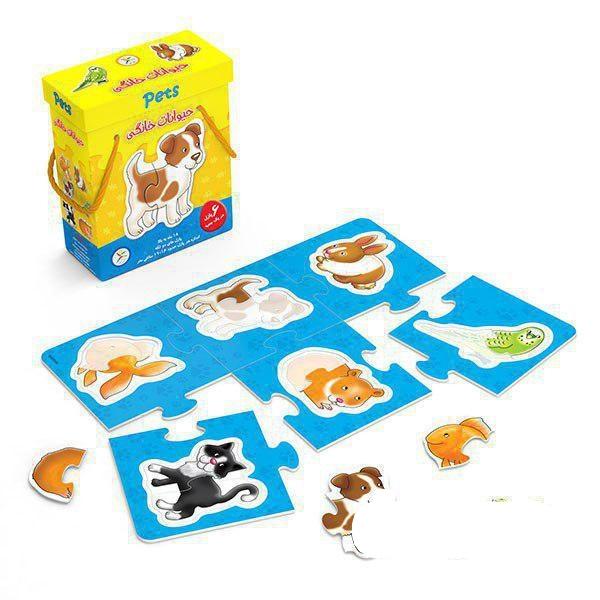 پازل جعبه ای حیوانات خانگی