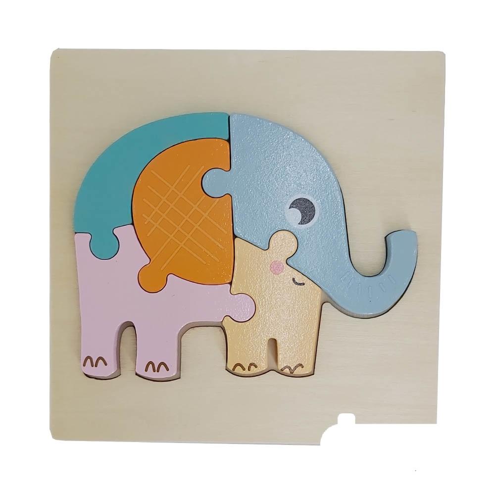 پازل جانمایی چوبی طرح فیل (C8)