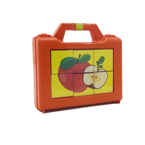 پازل مکعب های تصویری میوهها