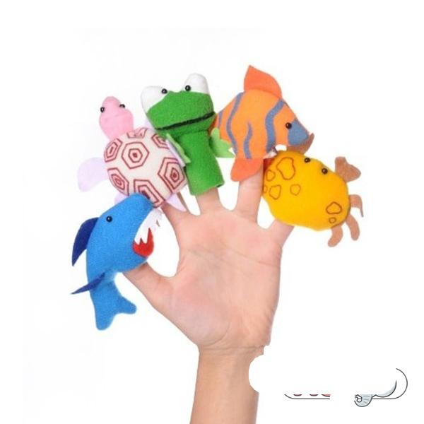 عروسک انگشتی شادی رویان مدل حیوانات دریایی