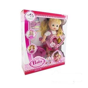 عروسک بیبی لباس چهارخونه