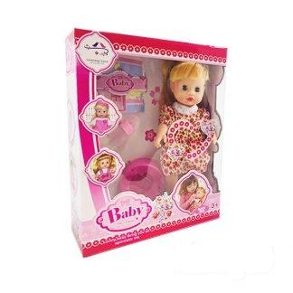 عروسک بیبی لباس گل گلی