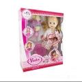 عروسک بیبی لباس سفید گلدار