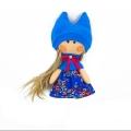 عروسک دختر روسی آبی تیره