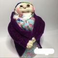 عروسک جورابی ماه منیر کت بنفش