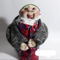 عروسک جورابی ماه منیر کت طوسی
