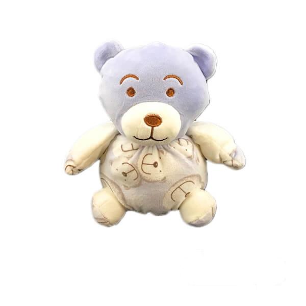 عروسک خرس آبی لباس خرسی