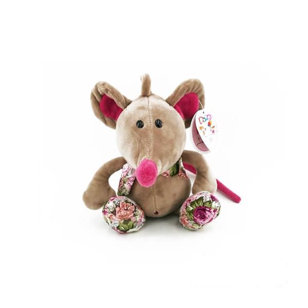 عروسک موش گل دار صورتی