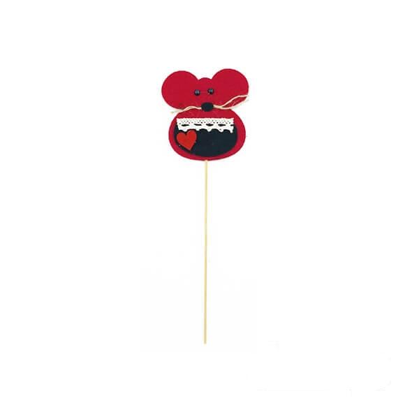 عروسک موش نمدی قرمز تپل