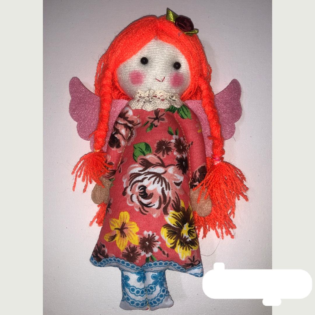 عروسک وداد مو نارنجی لباس نارنجی