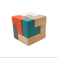 تانگرام مکعب چوبی (3D Puzzle Cube)